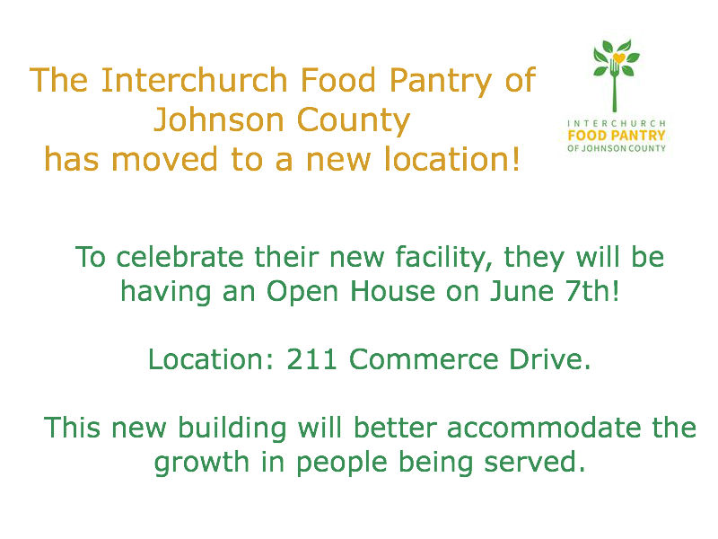 New Location for the Food Pantry
