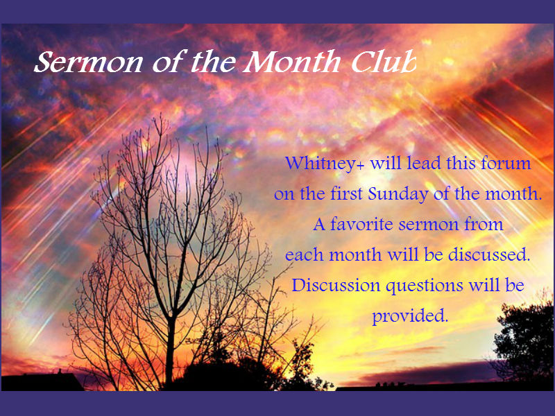 Adult Forum: Sermon of the Month